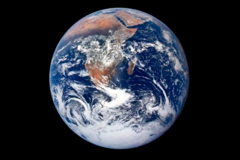 A photo of Earth from space