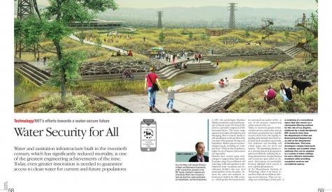 John Lienhards OpEd in the World Energy Magazine featuring an CGI image of an urban wetland system
