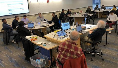 Several dozen students participated in the Green AI Hackathon, co-sponsored by the MIT Research Computing Project and MIT-IBM Watson AI Lab.