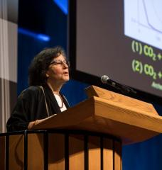 Susan Solomon, the Lee and Geraldine Martin Professor of Environmental Studies and Chemistry at MIT, delivered the symposium's keynote address.