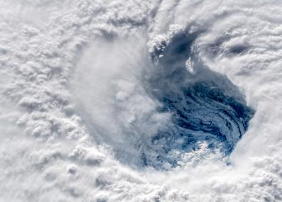 Hurricane Florence, seen from the International Space Station in September 2018